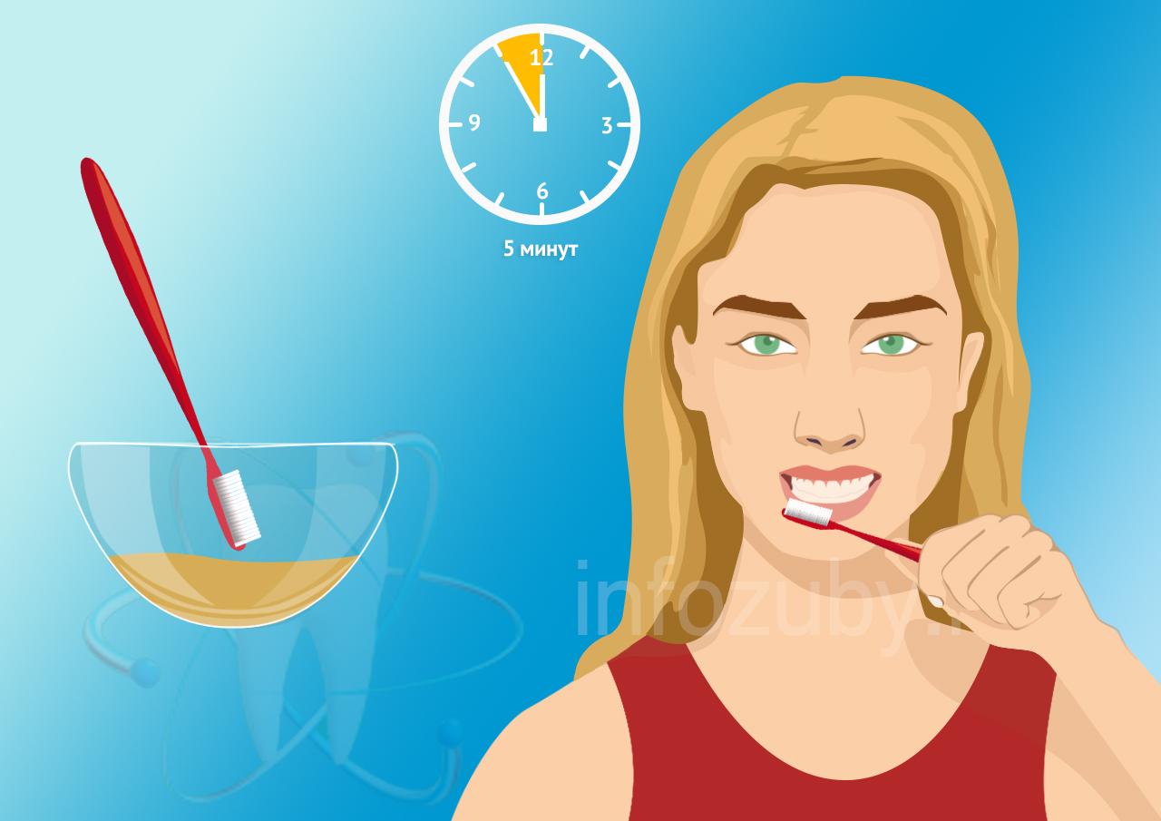Чистка зубов средством из коры грецкого ореха