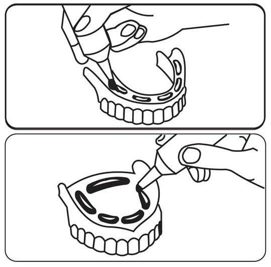 Как нанести крем на зубной протез