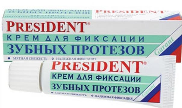 Фиксирующий крем Президент для зубных протезов