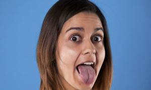 Опух язык